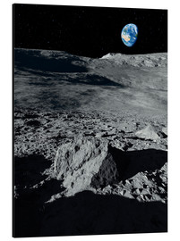 Stampa su alluminio  Earth from the Moon - Detlev van Ravenswaay