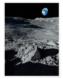 Poster Premium  Earth from the Moon - Detlev van Ravenswaay