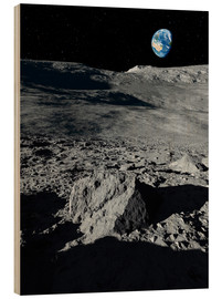 Stampa su legno  Earth from the Moon - Detlev van Ravenswaay