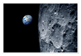 Poster Premium Earth from lunar orbit