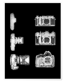 Poster Premium  X-ray of a digital camera - PhotoStock-Israel