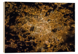 Stampa su legno  Paris by night from above - NASA