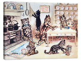 Stampa su tela  The Picture Book of Kittens 13 - Louis Wain