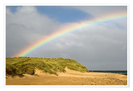 Poster Premium  Rainbow over sand dunes - Duncan Shaw