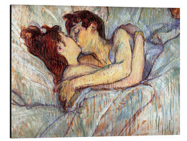 Alluminio Dibond  In Bed The Kiss - Henri de Toulouse-Lautrec