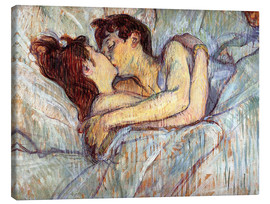 Tela  In Bed The Kiss - Henri de Toulouse-Lautrec
