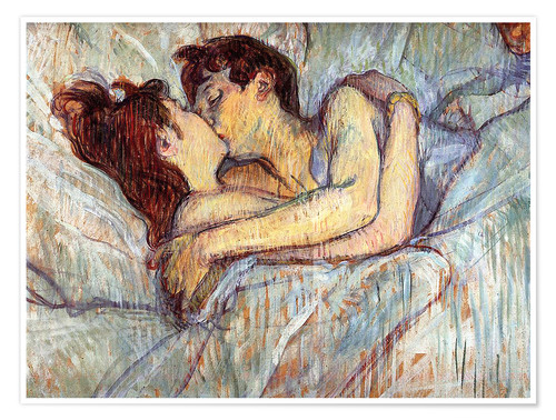 Poster In Bed The Kiss