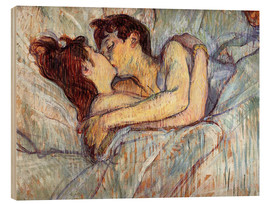 Legno  In Bed The Kiss - Henri de Toulouse-Lautrec