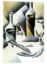 Stampa su vetro acrilico  Still Life with bottles and knives - Juan Gris