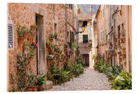 Vetro acrilico  Lane in Valldemossa, Mallorca (Spain) - Christian Müringer