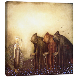 Stampa su tela  The story of Skutt the Moose and little Princess Tuvstarr - John Bauer