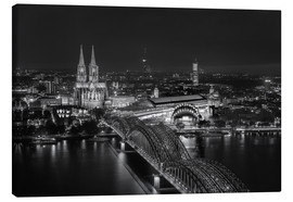 Stampa su tela  Cologne black and white - rclassen