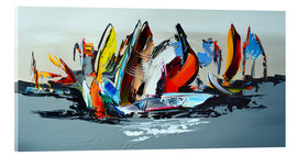 Vetro acrilico  Abstract sailing - Theheartofart Gena