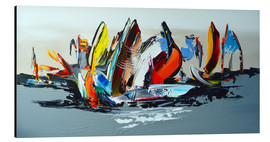 Alluminio Dibond  Abstract sailing - Theheartofart Gena