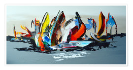 Poster Premium  Abstract sailing - Theheartofart Gena
