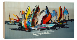 Legno  Abstract sailing - Theheartofart Gena