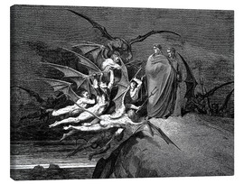 Tela  The Inferno, Canto 21  - Gustave Doré