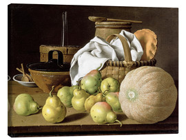Stampa su tela  Still Life with Melon and Pears - Luis Egidio Meléndez