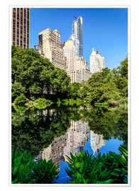 Poster Premium  New York City - Central Park South (The Pond) - Sascha Kilmer