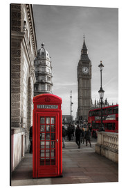 Alluminio Dibond  London Telephone Box and Big Ben - Filtergrafia