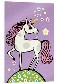 Vetro acrilico  Magic dust, the unicorn - Little Miss Arty