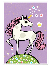 Poster Premium Magic dust, the unicorn