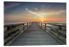 Stampa su vetro acrilico  Schoenberger beach jetty at sunrise - Dennis Stracke