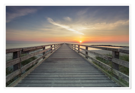 Poster Premium  Schoenberger beach jetty at sunrise - Dennis Stracke