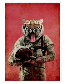 Poster Premium  Space tiger - Durro Art