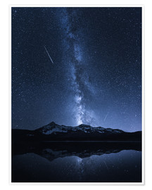 Poster Premium  Galaxies Reflection - Toby Harriman