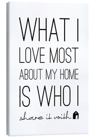 Stampa su tela  What I love most - m.belle