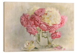 Stampa su legno  roses and peonies - Lizzy Pe
