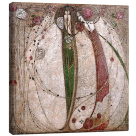 Stampa su tela  The White Rose And The Red Rose - Margaret MacDonald Mackintosh