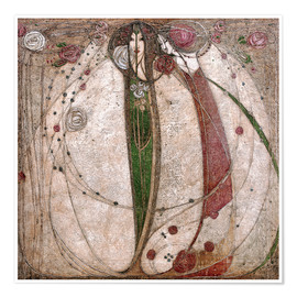 Poster  The White Rose And The Red Rose - Margaret MacDonald Mackintosh