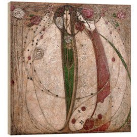 Legno  The White Rose And The Red Rose - Margaret MacDonald Mackintosh