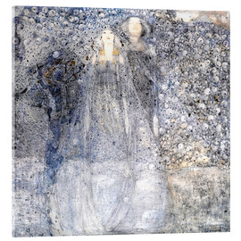 Vetro acrilico  Silver Apples - Margaret MacDonald Mackintosh