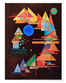 Poster Premium  Peaks in the bow - Wassily Kandinsky