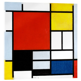 Vetro acrilico  Composition with Red, Yellow, Blue and Black - Piet Mondrian