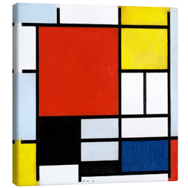 Stampa su tela  Composition with Red, Yellow, Blue and Black - Piet Mondrian