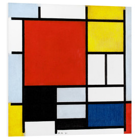 Forex  Composition with Red, Yellow, Blue and Black - Piet Mondrian