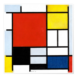 Poster  Composition with Red, Yellow, Blue and Black - Piet Mondrian