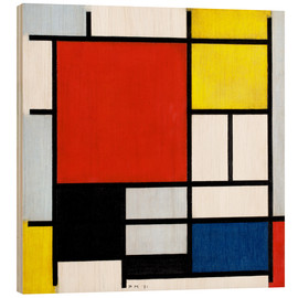 Legno  Composition with Red, Yellow, Blue and Black - Piet Mondrian