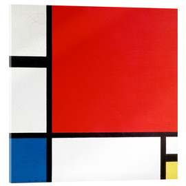 Vetro acrilico  Composition with Red, Yellow and Blue - Piet Mondrian