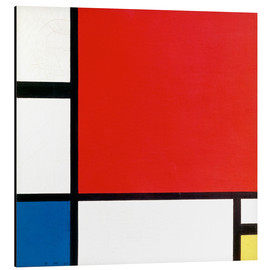 Alluminio Dibond  Composition with Red, Yellow and Blue - Piet Mondrian