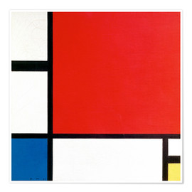 Poster Premium  Composition with Red, Yellow and Blue - Piet Mondrian