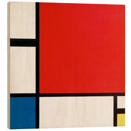 Stampa su legno  Composition with Red, Yellow and Blue - Piet Mondrian