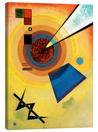 Stampa su tela  Green and red - Wassily Kandinsky