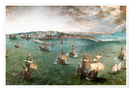 Poster  Port of Naples - Pieter Brueghel d.Ä.