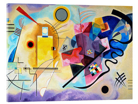 Vetro acrilico  Yellow, red and blue - Wassily Kandinsky