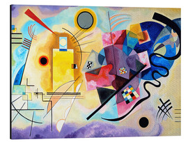 Alluminio Dibond  Yellow, red and blue - Wassily Kandinsky